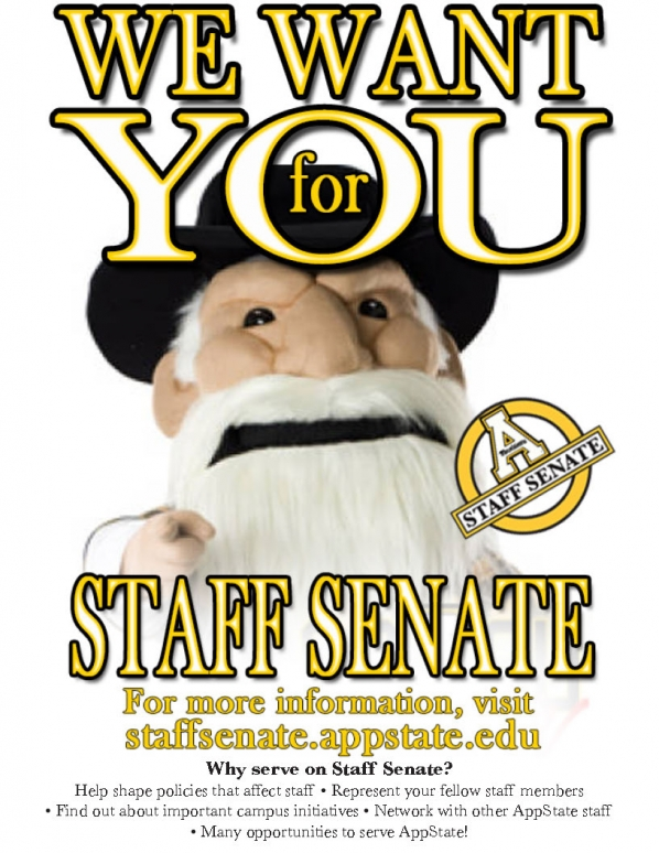 We Want You for Staff Senate